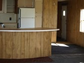 curved bar in kitchen